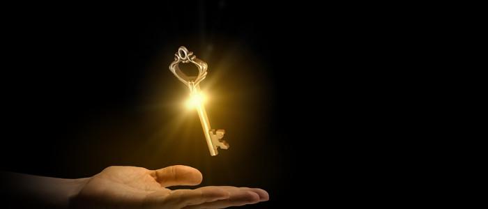 zářivý zlatý klíč
